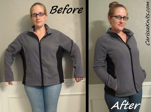 Fleece Jacket - Before & After