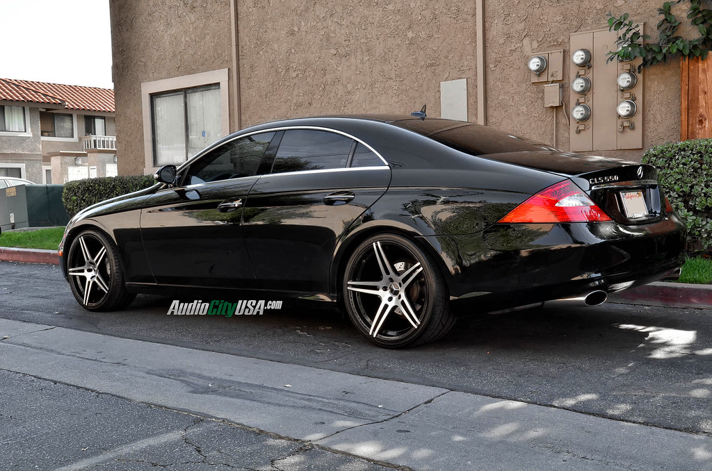 2007 Mercedes Benz Cls 550 On 20 Quot Azad 5120 Black Machine