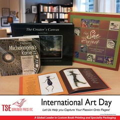 Celebrating International #art Day! Display your #artwork to the world in amazing book formats! we capture the richness of your artistic expression and bind them into lasting and durable masterpieces! #artbooks tseworldwidepress.com
