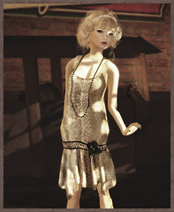 Fusspot - Sequin Stripes Flapper Dress