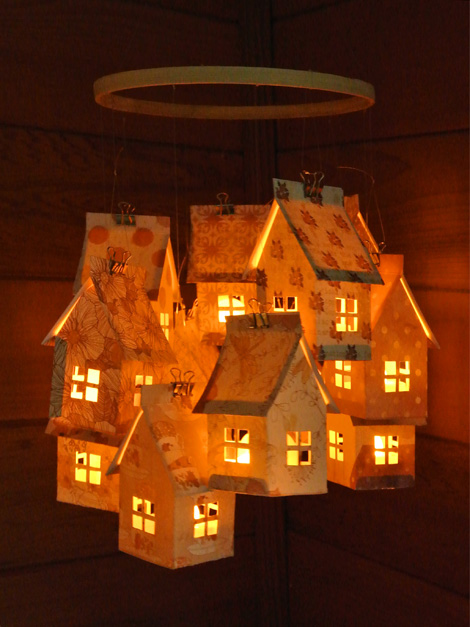 Paper House Luminaries Mobile - Just Something I Made