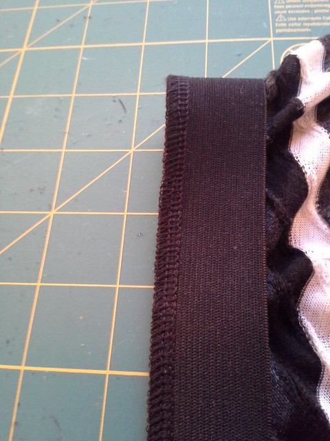 Serged waistband on with my new serger