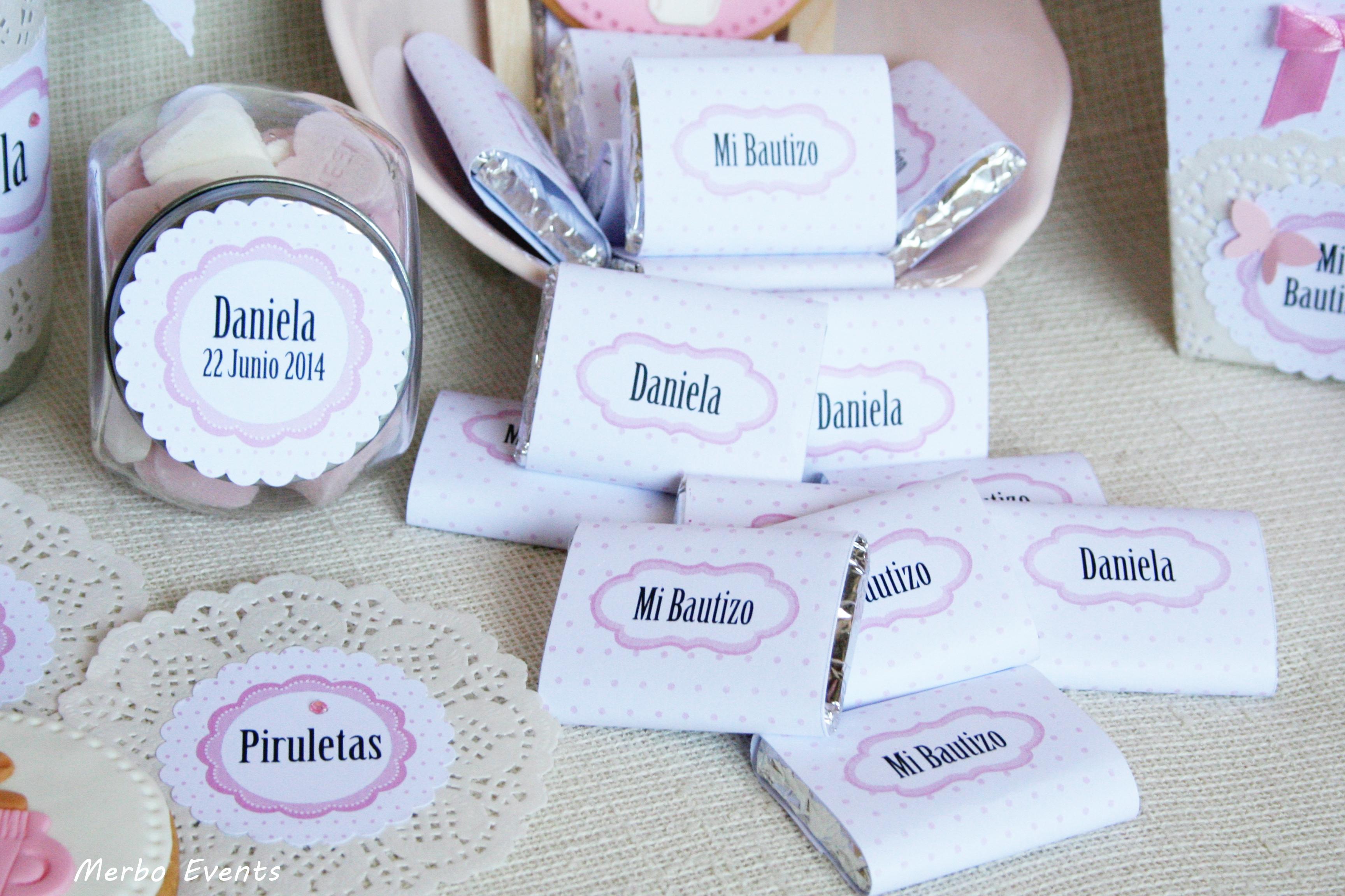 Chocolatinas personalizadas para bautizo