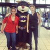 Dubious KK with Mike the Tiger / Batman. @miketigervi #geauxtigers #mtt #lsu #lsusoa #mascot
