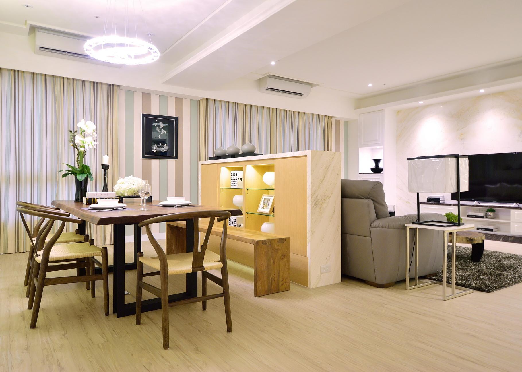 【住宅設計】林口冠東方黃公館-美式簡約居家風餐廳2