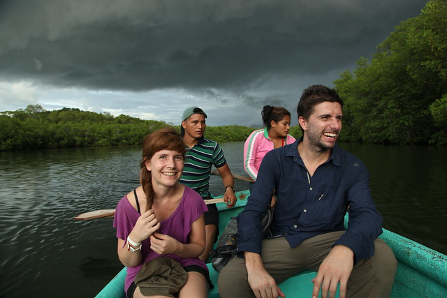 Guided boat ride in mangrove swamp during storm, Padre Ramos, Nicaragua