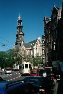 Imagen de Westerkerk cerca de Ámsterdam. birthday travel vacation holland church netherlands analog europe belgium bruxelles luxembourg europeanunion westerkerk benelux midwesteurope beneluxcountries