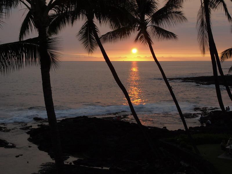 Sunset Kona Coast Big Island Hawaii