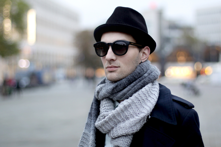 gucci sunglasses via sunglassesshop cats & dogs fashion blog men hat winter