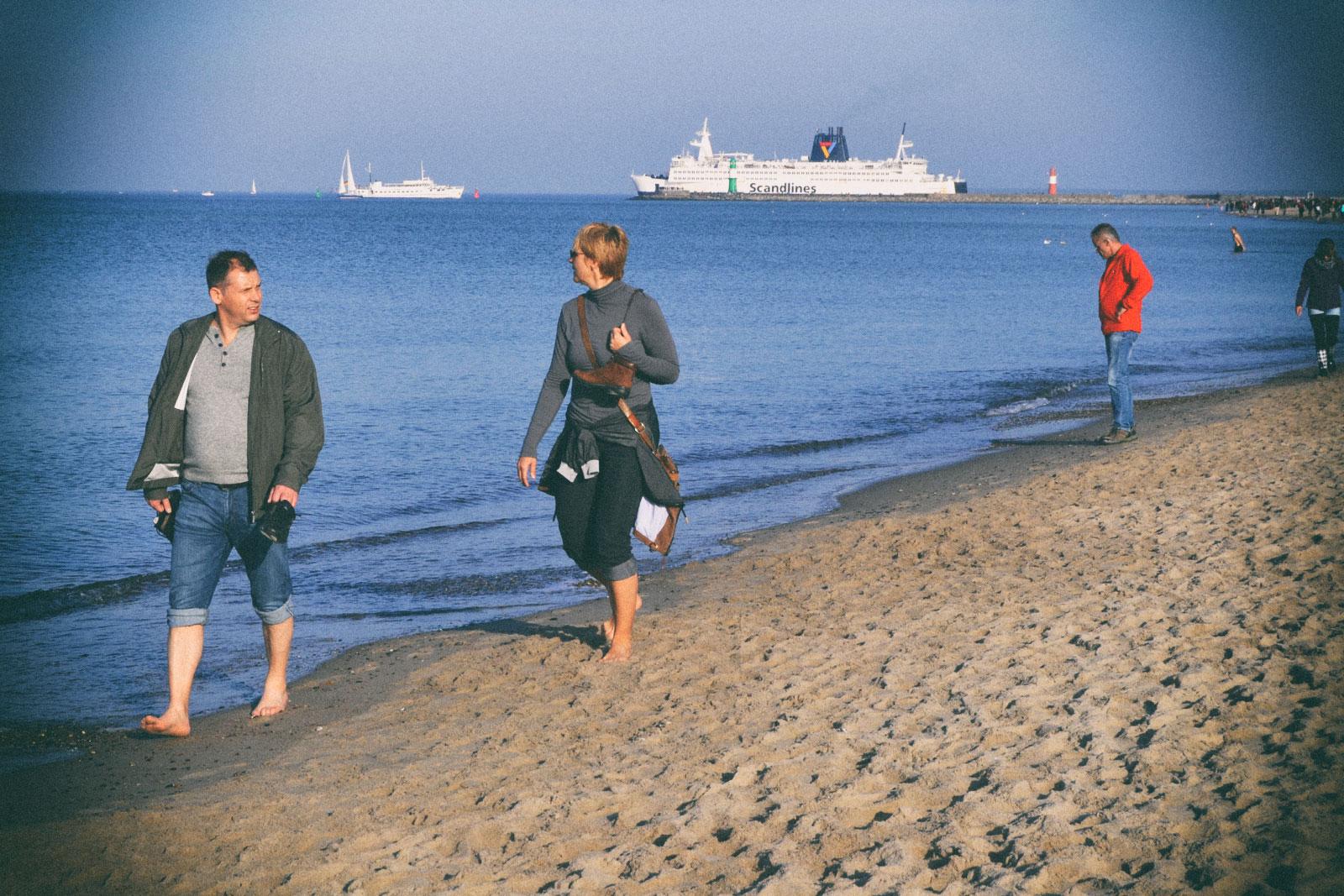Am Strand von Warnemünde