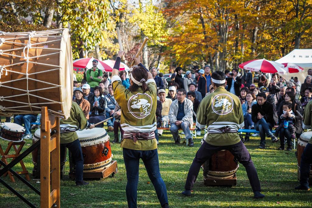 Taiko drummers at Shikotsu Spa, Hokkaido, Japan