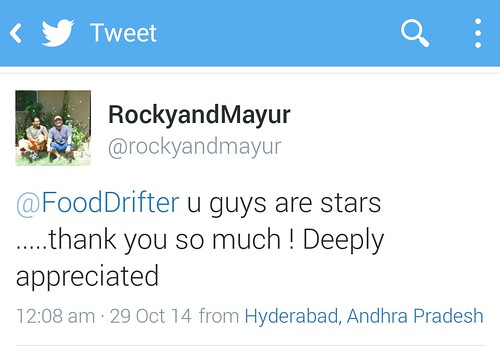 Rocky And Mayur Tweet