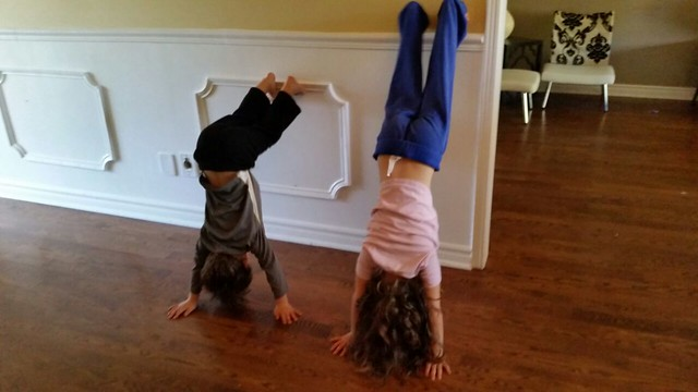 kids handstand
