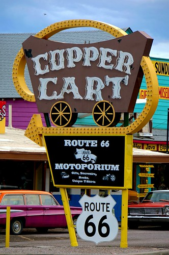 Copper Cart - Route 66, Seligman. Arizona