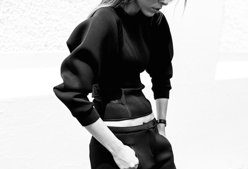 ALEXANDER WANG x H&M all black street style modern legacy fashion blog Australia sport luxe inspo (11 of 14)
