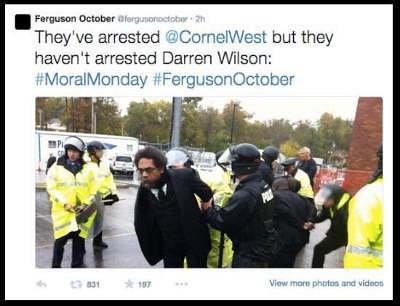 Dr. Cornel West arrested Ferguson Mo