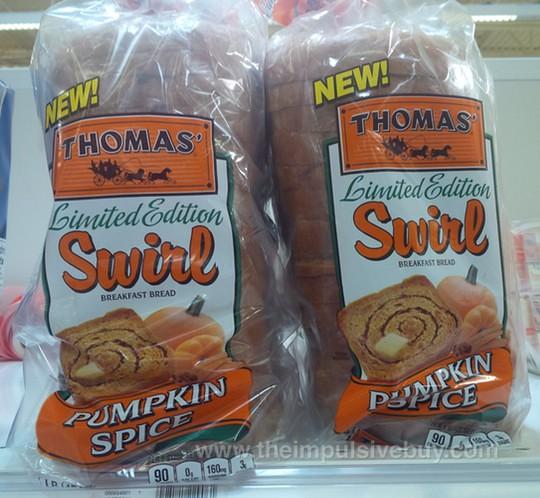 Thomas' Limited Edition Pumpkin Spice Swirl Bread