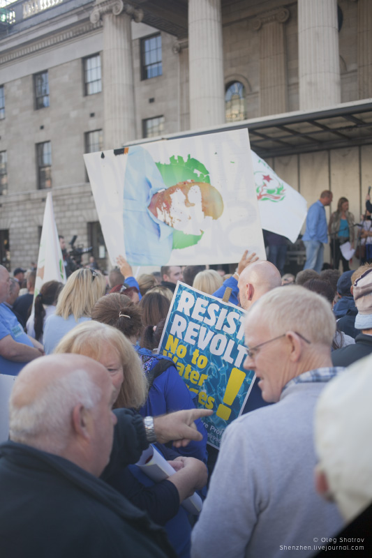 Dublin water protest gig starts