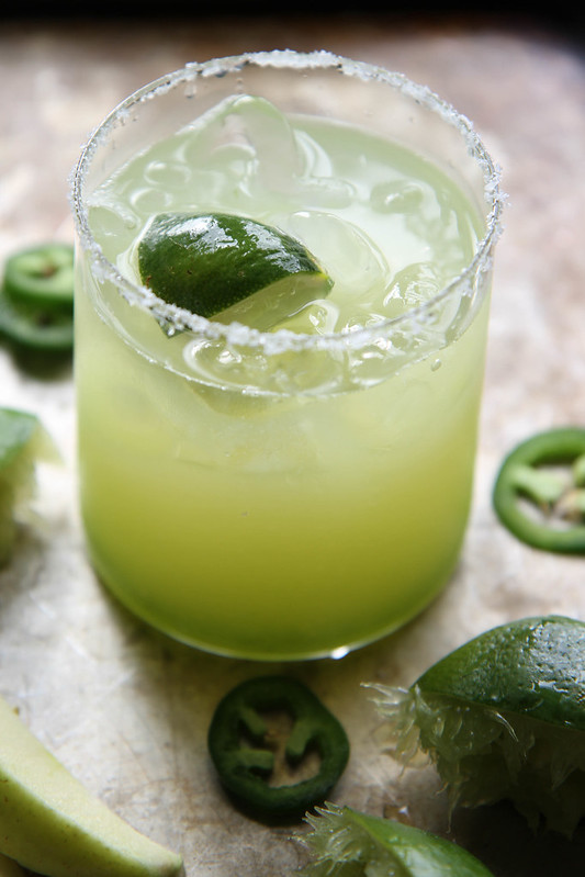Sour Green Apple Jalapeno Margaritas Fall Cocktail