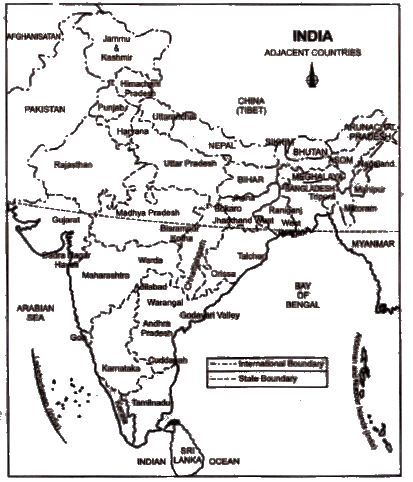 NCERT Solutions for Class 9th Social Science Geography : Chapter 1 India - Size and Location