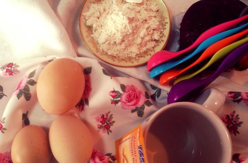 Ingredientes receta bizcocho taza