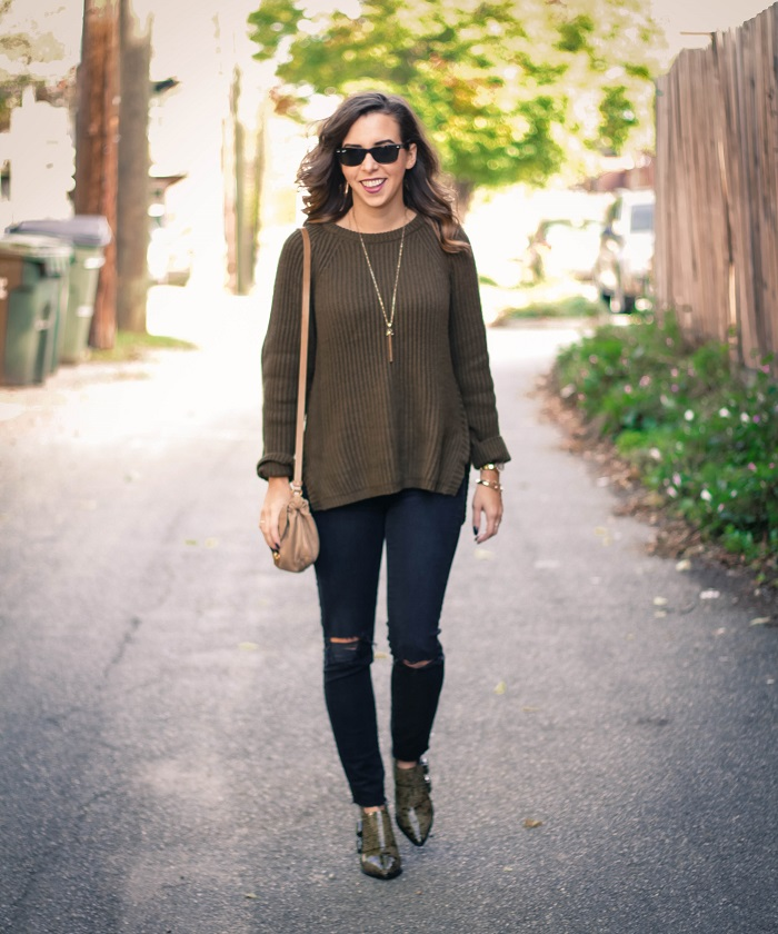 casual fall style. madewell sweater. distressed black denim. tibi ankle booties. fall style. andrea viza. va darling. dc style fashion blogger. fashion blogger.9