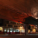 MassDOT posted a photo:	Happy #Halloween! Check out new Light Art display under I-93 SE Expressway, Boston. Webs & Spiders!