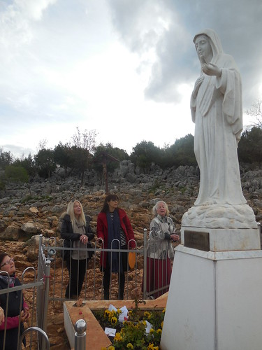Vassula at the Apparition Hill with Sabrina and Michel Medjugorie 034