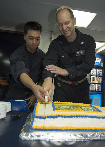 Vandegrift Commemorates 239 Years of Navy Heritage