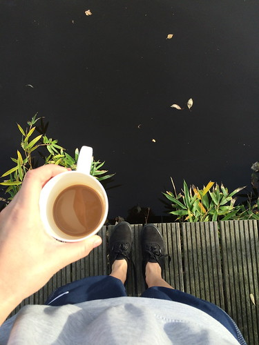 Morning coffee and lakes