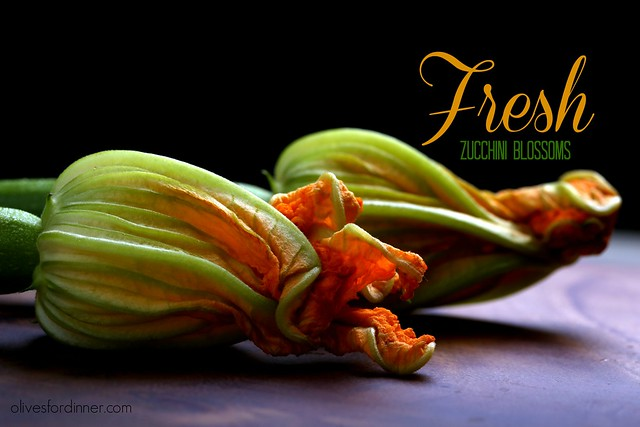 Cashew-Basil Stuffed and Beer-Battered Zucchini Blossoms
