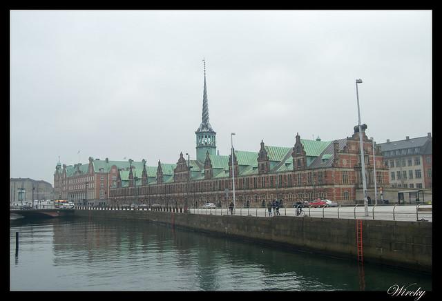 El edificio de la Bolsa de Copenhague