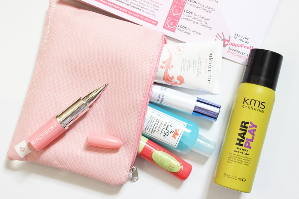 October Birchbox With Coppafeel Theme Work It