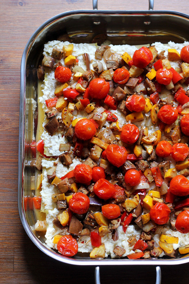 Roasted Ratatouille Lasagna | Joanne Eats Well With Others