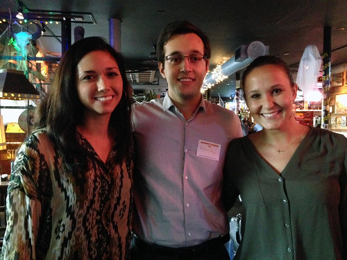 Young alumni pose for a photo at a UT PGE alumni gathering in Houston, which had 60 former students in attendance.