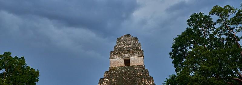 Jaguar Temple Panorama - Tikal