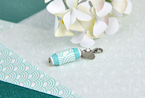 Paper Bead Keychain by S.CHICK