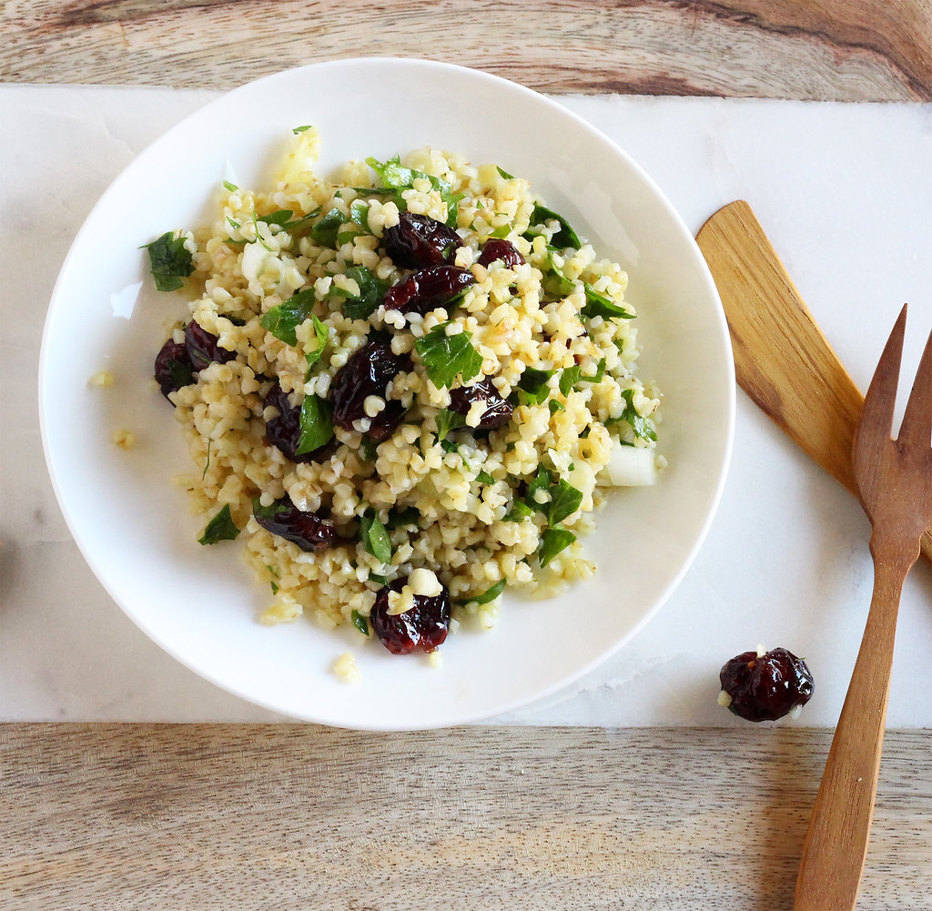 cranberry bulgur salad