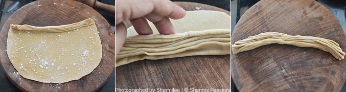 How to make lachha paratha - Step2