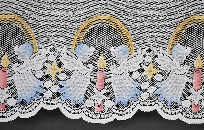 21 cm scheibengardine weihnachten engel mit kerze 50 cm for Scheibengardine weihnachten