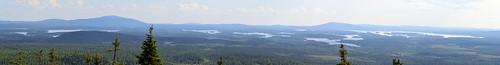 summer panorama lake forest finland landscape geotagged russia ks border july kuusamo fin stitched 2014 koillismaa 201407 kuntivaara nuorunen 20140714 geo:lat=6614513942 geo:lon=2981194538
