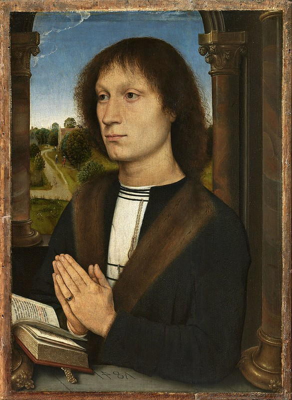 Hans Memling - Probably portrait of Benedetto Portinari (c.1487)