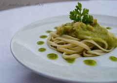 tallarines en salsa verde y cilantro 2