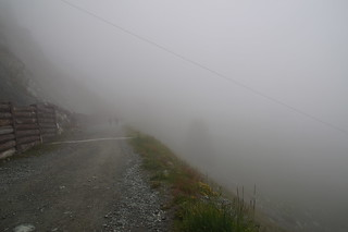 006 Boven bij Sunnega in de mist