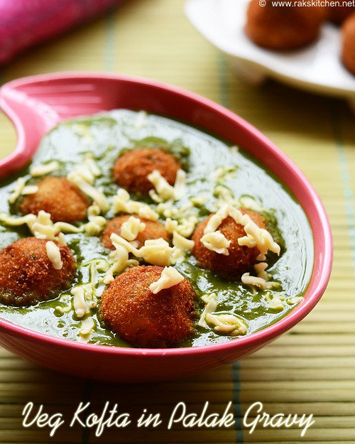 Veg Kofta in Palak gravy recipe