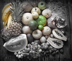 Exotic fruits variety still life
