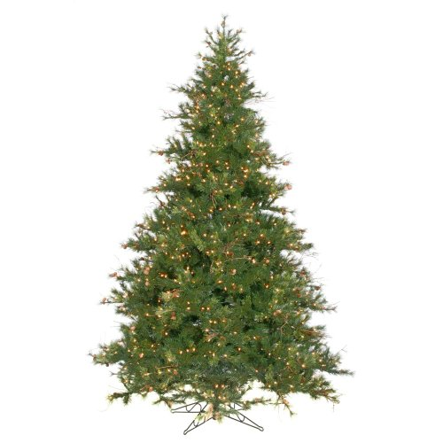 vickerman mixed country pine full pre lit christmas tree clear plastic 10 ft big discount. Black Bedroom Furniture Sets. Home Design Ideas