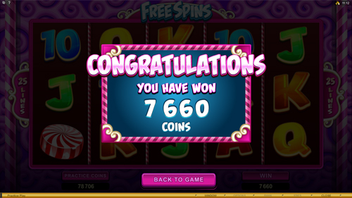 So Much Candy Free Spins Prize