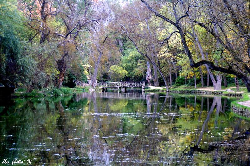 Otoño en Parque Natural del Monasterio de Piedra en Zaragoza