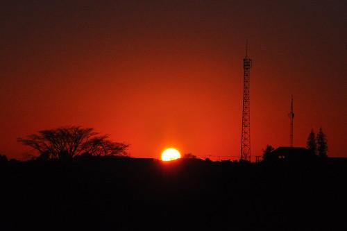 brazil sky sun brasil sunrise landscape horizon redsky 18105mm nikond90